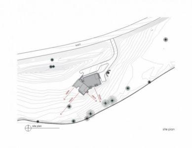 plan de masse - River Bank house par Balance Associates Architects - Big Sky, Montana, Usa
