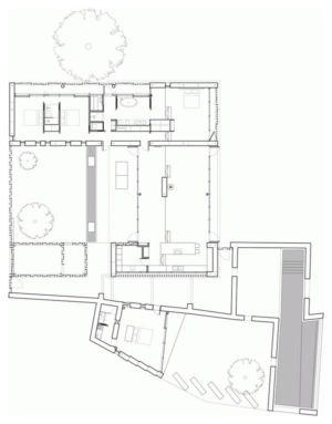 plan de masse - Stone house par Carl Fredrik Svenstedt architecte - Vallée du Luberon, France