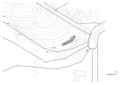 plan de masse - Valley House par Philip M Dingemanse - Launceston, Australie