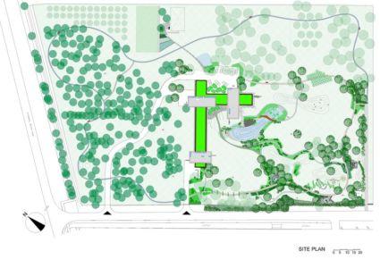 plan de masse - Villa M par Oliver Grigic - Cepin, Croatie