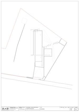 plan de masse - War house par A+B architectes - Montmorency, France