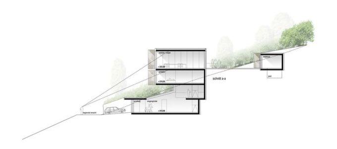 plan elevation 1 - House-GT par Archinauten - Linz, Autriche