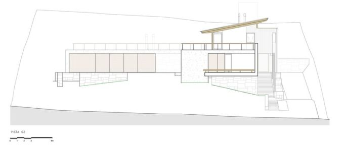 plan façade - Ft house par Reinach Mendon Arquitetos - Bragança Paulista, Brésil