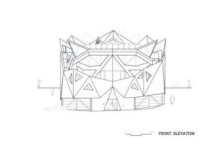 plan façade - HWA HUN par IROJE KHM Architects - Pyeongchang-dong, Corée du Sud
