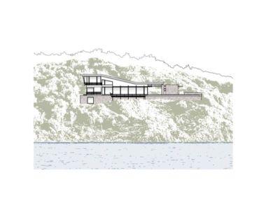 plan façade - Notre Ntam' Lesvos Residences par Z-level à Agios - Fokas, Grèce