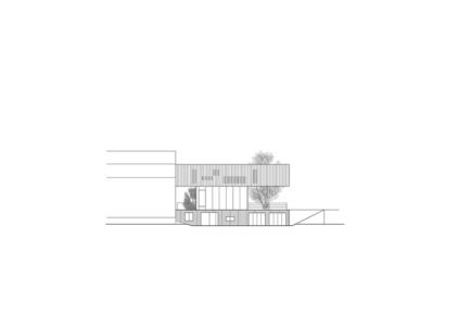 plan façade nord - Maison R - Colboc Franzen & Associés - France - Photos