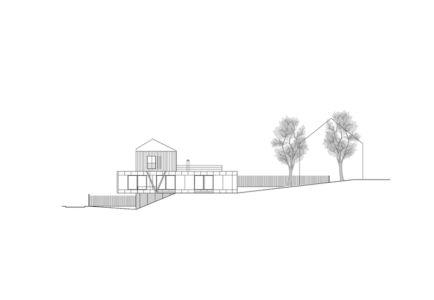plan façade ouest - Maison R - Colboc Franzen & Associés - France