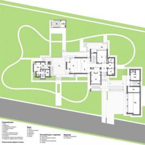 plan masse - S-House par Fourth Dimension - Moscou, Russie