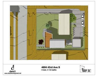 plan masse - Unique Reclaimed Modern par Dwell Development LLC - Seattle, Usa