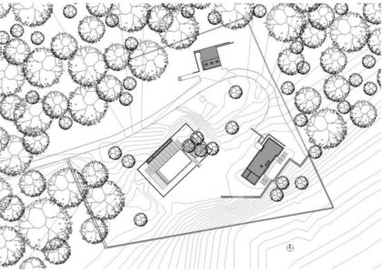 plan panoramique 2D site - Watch-Hill-House par Lubrano Ciavarra - New York, USA