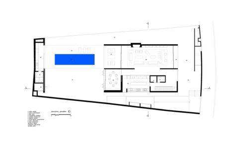 plan rdc - Tetris House par Studio mk27 - São Paulo, Brésil