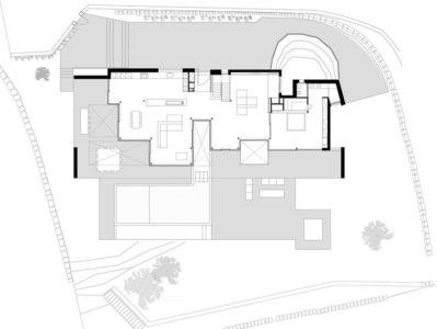 plan rdc - maison réhabilitée par MANO Arquitectura - Begur Espagne
