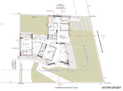 plan rez de chaussée - Paradox house par Klab architecture - Athènes, Grèce