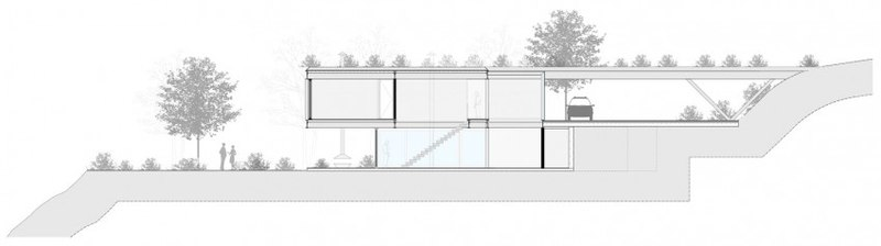 plan section - Résidense JG by MPG-Arquitectura, Rio de Janeiro, Brésil