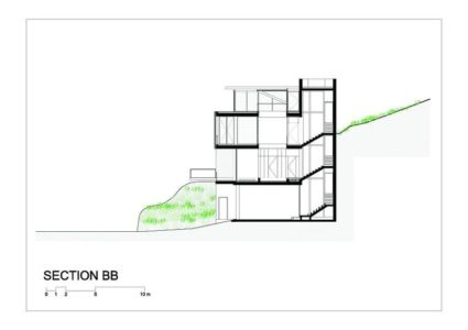 plan section - Tahan Villa par BLANKPAGE Architects - Kfour, Liban
