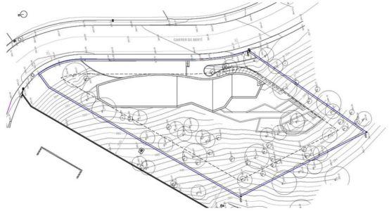 plan site 4 - maison exclusive par Mirag Arquitectura i GestiO - Ametlla, Espagne