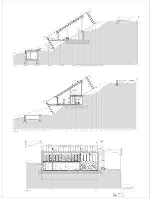 plan coupe 2 - 2houses-de-moura par Eduardo Souto De Moura - Ponte de Lima, Portugal