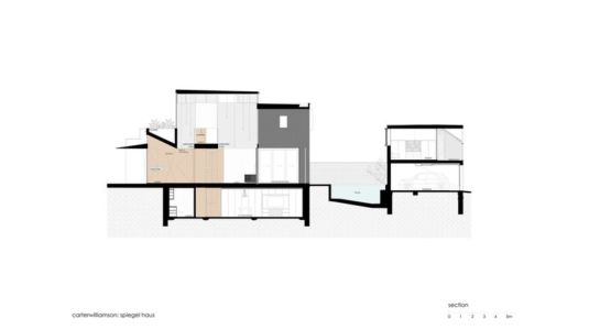 plan site section - spiegel-haus par Carterwilliamson Architectes - Sydney, Australie