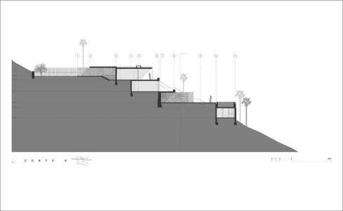 plan site - villa contemporaine par Adrián Noboa Arquitecto, Malecon Las Colinas, Pérou