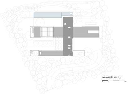 plan de masse - maison bois contemporaine par Jacobsen Arquitetura - Porto Feliz, Brésil