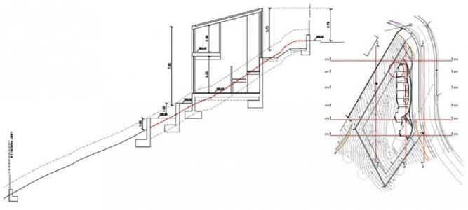 plan site2 - maison exclusive par Mirag Arquitectura i GestiO - Ametlla, Espagne