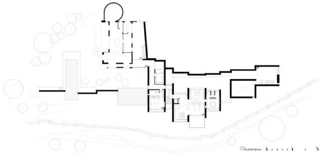 plan de masse - Paz & Comedias House par Ramon Esteve - Sagunt, Espagne