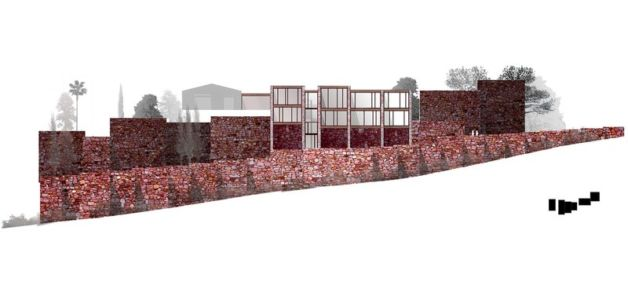 plan façade - Paz & Comedias House par Ramon Esteve - Sagunt, Espagne