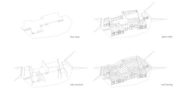 plans - Clifftop House Maui par Dekleva Gregoric Arhitekti - Maui, Hawaï