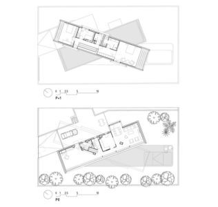 plans - Crossed House par Clavel Arquitectos - La Alcayna, Espagne