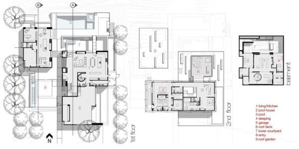 plans - Tresarca House par assemblageSTUDIO - Las Vegas, Nevada, Usa