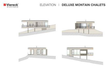 plans coupe - Deluxe Mountain Chalets par Viereck Architects - Styria, Autriche