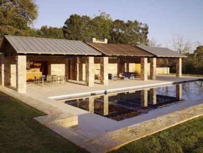 pool house - Mountain Wood Residence par Walker Warner Architects -Woodside, Usa