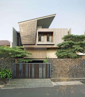portail entrée - Ben House-GP par Wahana Architects - Jakarta, Indonésie