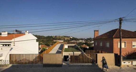 façade entrée - house-caxias par António Costa Lima Arquitectos - Caxias, Portugal