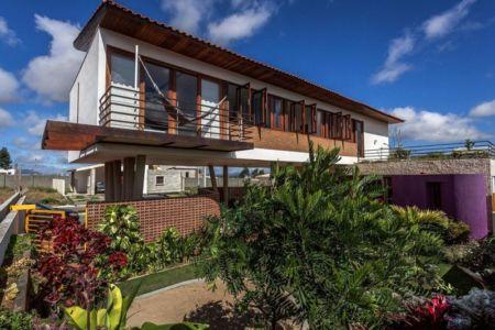 porte à faux - Casa do Arquiteto par Jirau Arquitetura - Pernambuco, Brésil
