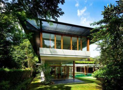 porte à faux - Water Lily House par Guz Architects - Singapour