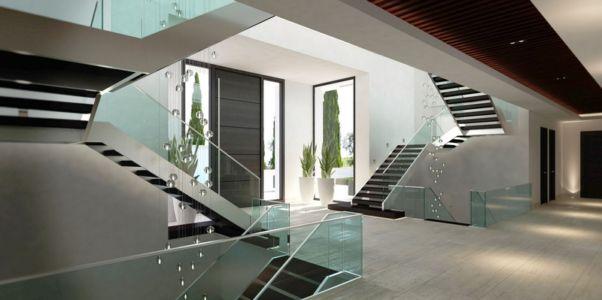 porte d'entrée - luxueuse villa par Ark Architects - San Roque, Espagne