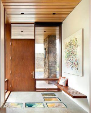 porte entrée - Contemporary Western par Hoyt Architects & CTA Group - Usa