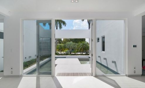 porte entrée - Gross-Flasz Residence par One d+b Miami - Harbor Island, Usa