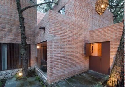 porte entrée - Pinar house par MO+G Taller de arquitectura - Zapopan, Mexique