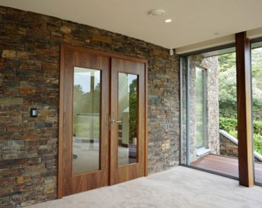 porte entrée - Ventura House par David James Architectes - Dorset, Royaume-Uni