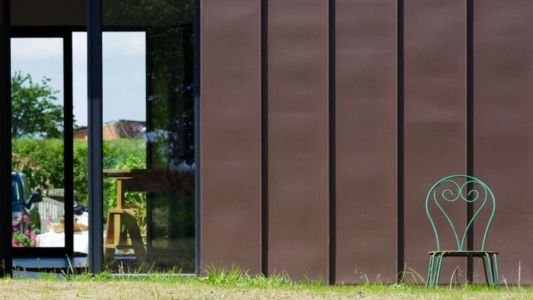 porte vitrée entrée - Le-Bourg-Neuf par ng-architecte - Bretagne, France