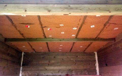 pose isolant 40mm plafond - bureau jardin bioclimatique