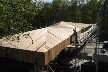 pose toiture en bardeaux - 102 Heesch par Hilberink Bosch Architecten - Bosvilla, Pays-Bas