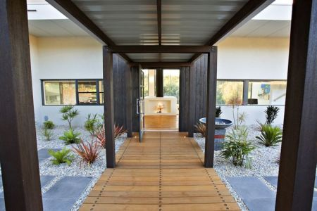 préau d'entrée - House 14 par Dane Richardson Design - Eagle Bay, Australie