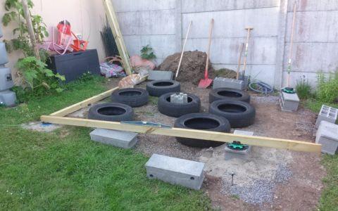 préparation plancher - bureau jardin bioclimatique