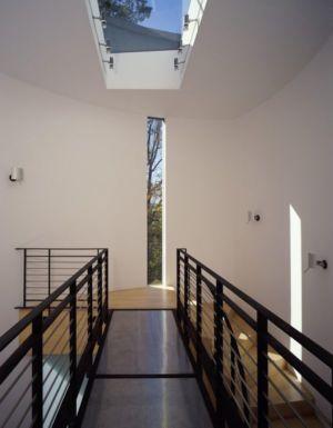 rambarde couloir intérieur - Hargrave-Residence par Robert M. Gurney Architect - Maryland, Etats-Unis