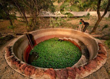 récupérateur eau pluie - Casa-Meztitla par EDAA - Tepoztlan, Mexique