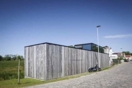 route accès - Graafjansdijk-House par Govaert & Vanhoutte Architects - Belgique