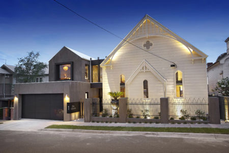 route & clôture - Remarkable-church par Bagnato Architects - Melbourne, Australie